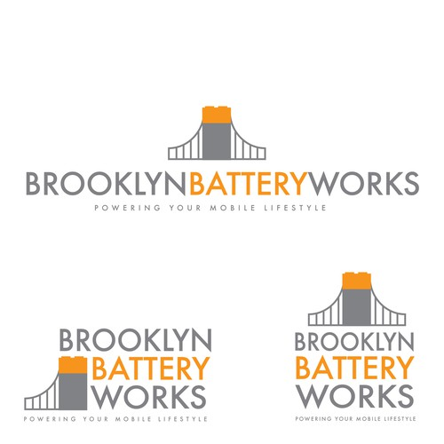 Charger logo with the title 'Logo Design for Innovative Battery Company'