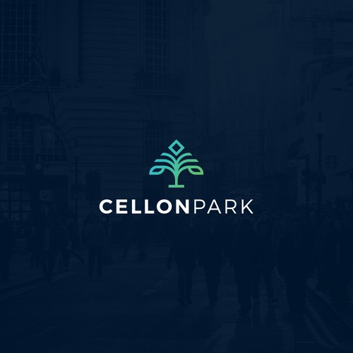Science design with the title 'Logo design for Cellon Park'