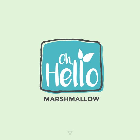Marshmallow logo with the title 'Artisanal Marshmallow Shop Logo'