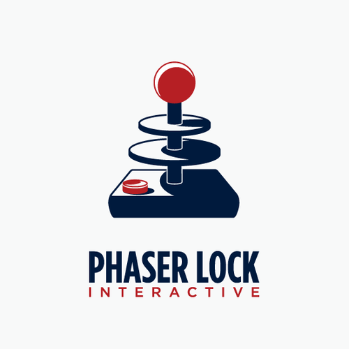 Video game logo with the title 'PHASER LOCK INTERACTIVE'