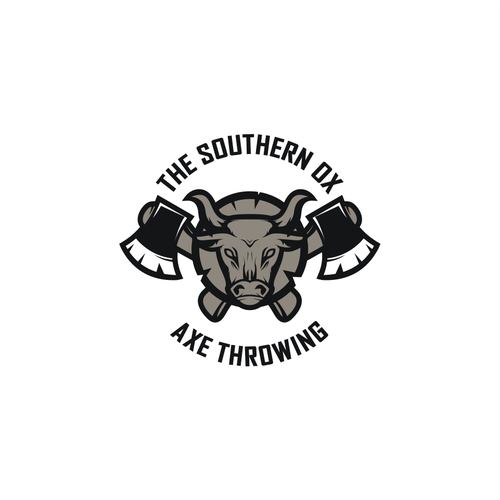 Ox design with the title 'ox axe throwing'