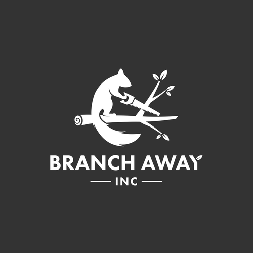 Squirrel logo with the title 'Branch away inc.'