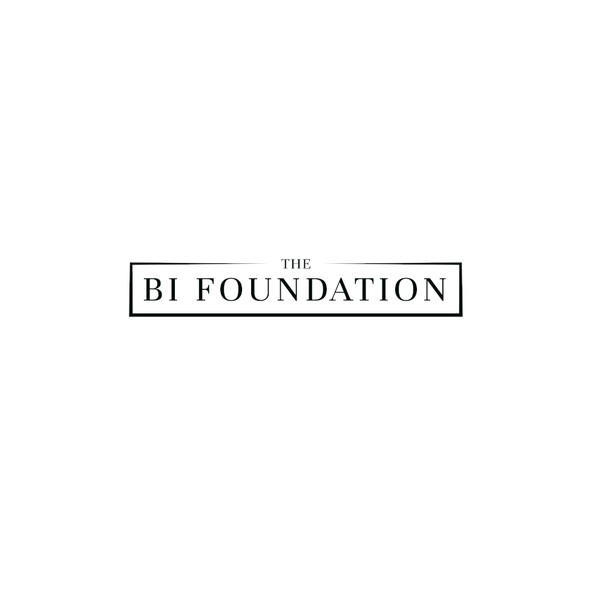 Serif brand with the title 'Textual logo for Bi Foundation'