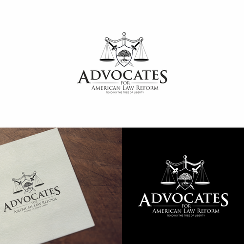 Oak tree design with the title 'Logo for Advocates for American Law Reform'