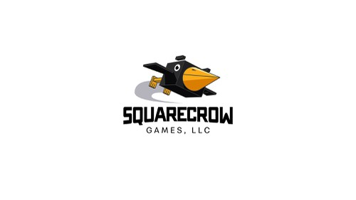 Gaming logo with the title 'Crow logo for gaming company'