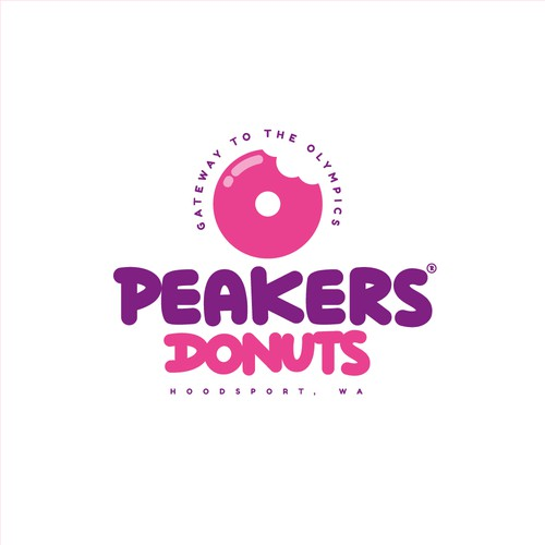 Confectionery logo with the title 'Logo concept for Donut shop'
