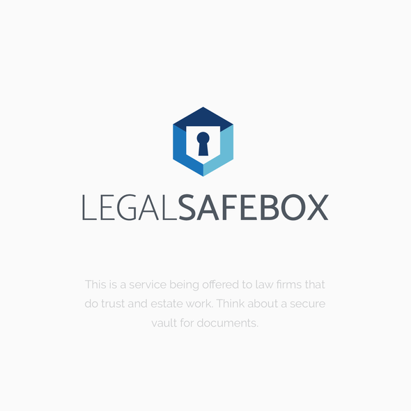 Legal and law firm logo with the title 'LegalSafeBox'