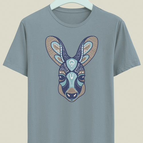 Kangaroo design with the title 'T-shirt design'
