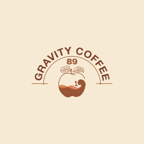 Shop brand with the title 'Logo Concept for Gravity Coffee'
