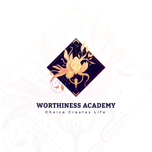 Diamond brand with the title 'Logo concept for spiritual academy'