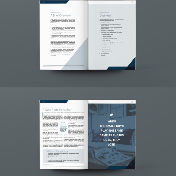 Page layout design with the title 'eBook Cover and Page Templates'