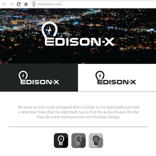 X logo with the title 'Edison-X'