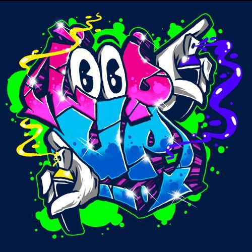 Streetwear t-shirt with the title 'graffiti // street art '
