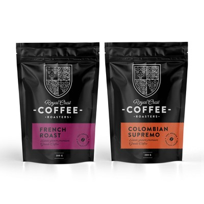 design for Royal Crest Coffee Roasters