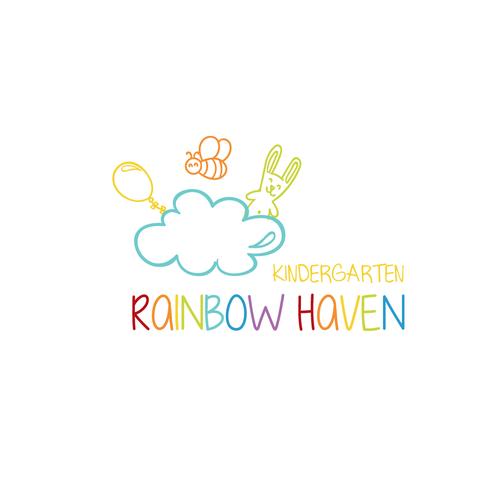 Kindergarten logo with the title 'Rainbow Haven'