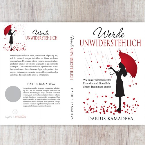 Girl book cover with the title 'Werde Unwiderstehlich'