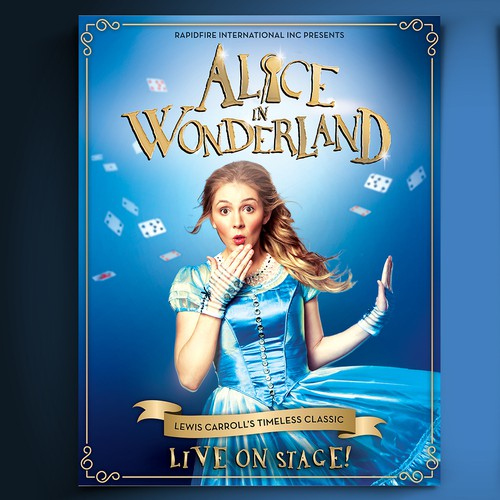 Show design with the title 'Alice in Wonderland flyer'