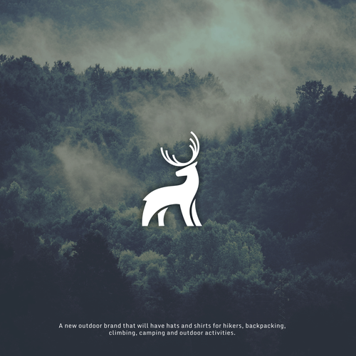 Elk design with the title 'New Outdoor Brand Logo Design'