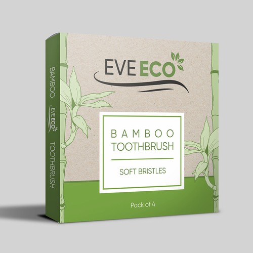 Toothbrush design with the title 'Bamboo toothbrush Box Design'