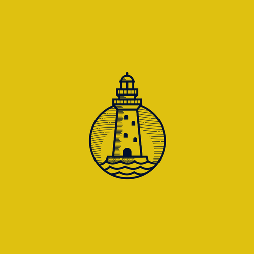 Maritime logo with the title 'LightHouse Logo'