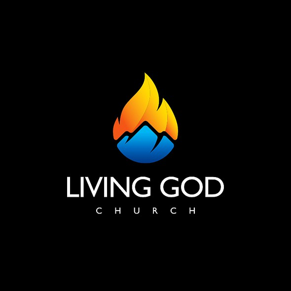 Bible logo with the title 'Living God Church'