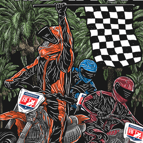 Motorsport design with the title 'Finale Shirt illustration for AFT'