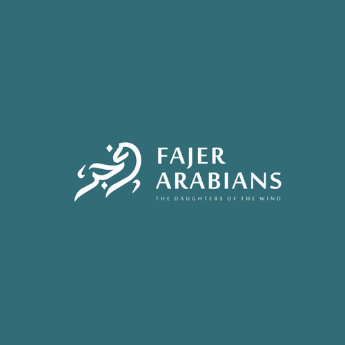 Arabic logo with the title 'Fajr Horse'