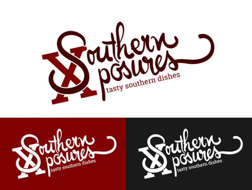 Food truck design with the title 'Southern Cooking!!'