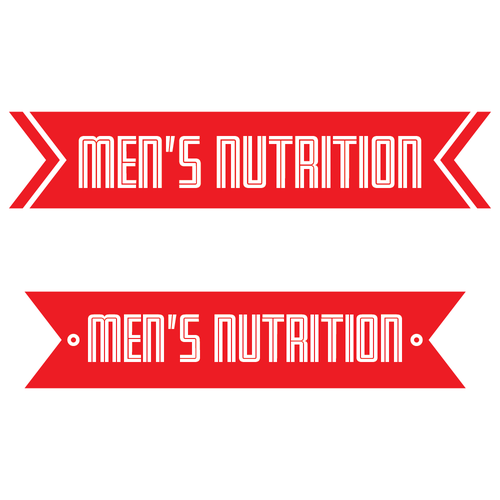 Improvement logo with the title 'Strong and competitive logo for men's health site.'