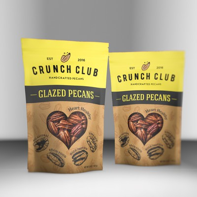 Playful packaging design for Glazed pecans