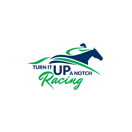 Riding logo with the title 'Bold logo for Horse Racing'