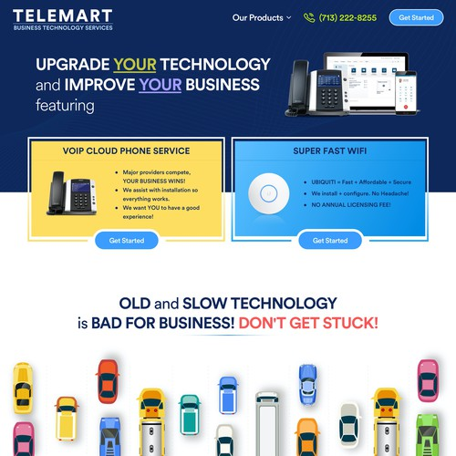 Network website with the title 'TELEMART Website'