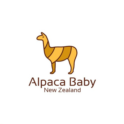 Cub logo with the title 'Alpaca baby logo'