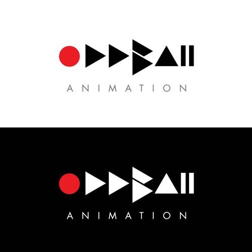 Music studio logo with the title 'OddBall Animation studio logo'