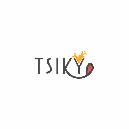 Cocktail design with the title 'Simple logo for TSIKY'