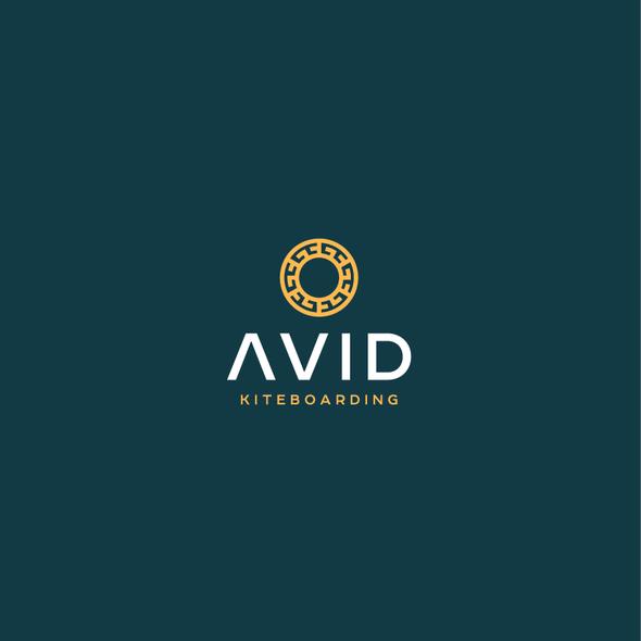 Kite design with the title 'Avid Kiteboarding Logo'
