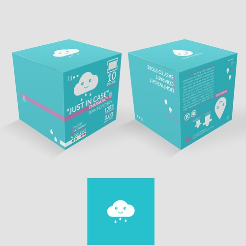 Vector packaging with the title 'Packing for Ponchos'