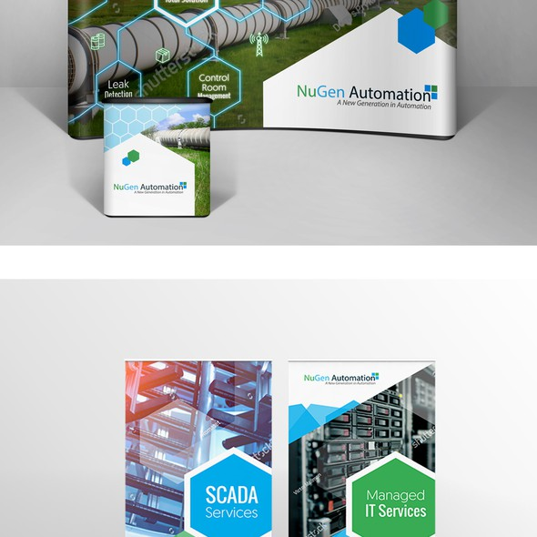 Hexagon design with the title 'Hexagonic designs for nugen automation'