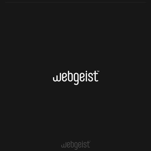 Launch design with the title 'Logo Design for Webgeist™'