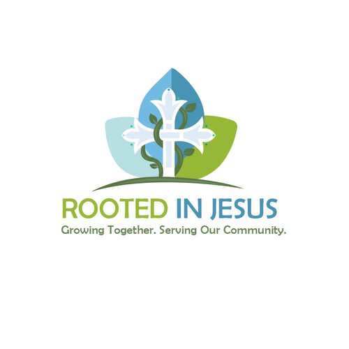 Jesus logo with the title 'Logo Rooted in Jesus 2'