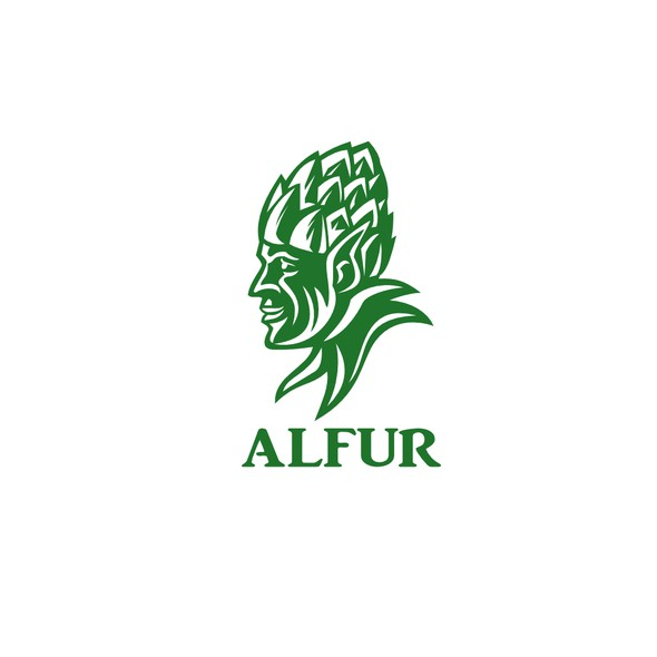 Elf logo with the title 'Alfur Microbrewery'