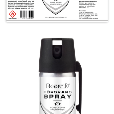 BODYGUARD - FORSVARS SPRAY BOTTLE LABEL