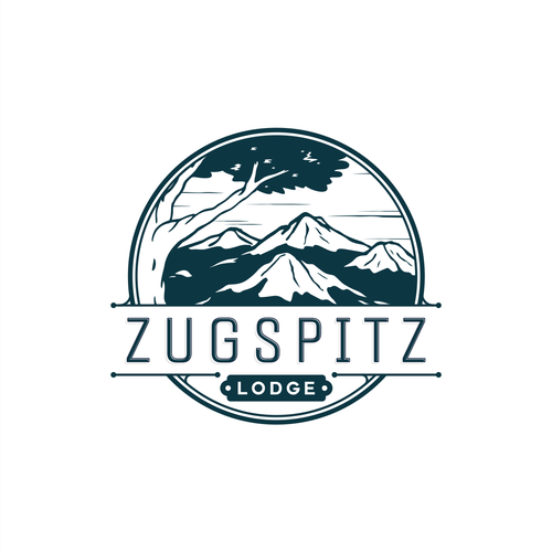 Lodge design with the title 'Zugspitz Lodge'