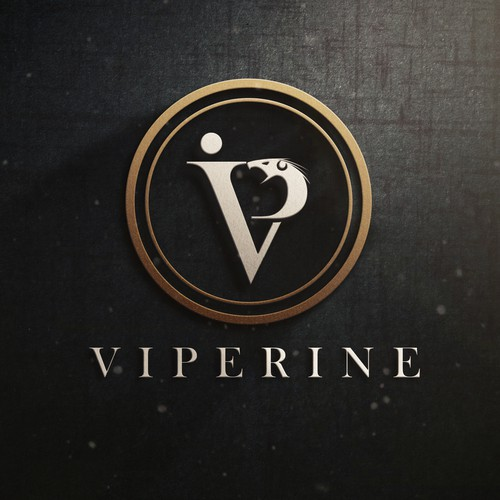 VIP logo with the title 'fashion logo for cryptocurrency'