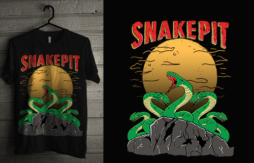 Moonshine design with the title 'The SnakePit'