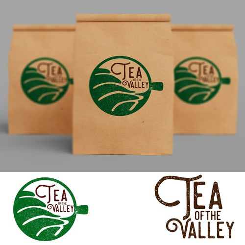 Teacup design with the title 'Tea of the Valley Logo'