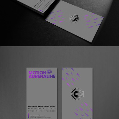 Motion Adrenaline Business card design