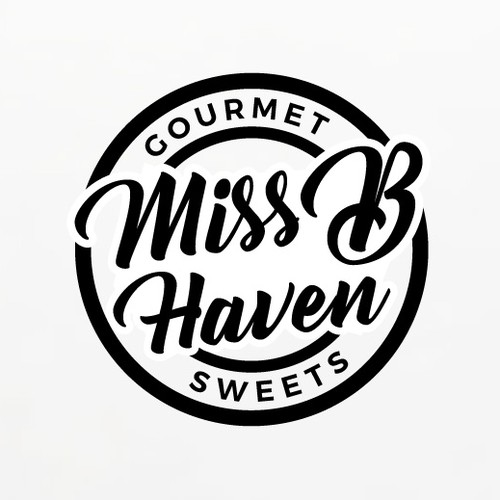 Food truck logo with the title 'Miss B Haven Food Truck Logo'