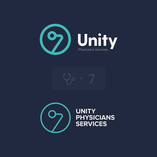 Number 7 logo with the title 'Unity Physicians Services'