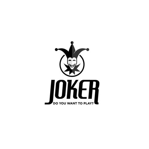 Clown logo with the title 'Logo for coffeshop called Joker'